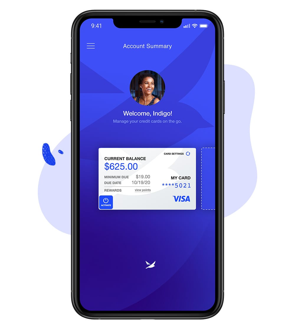 Spero Credit Card Mobile App background