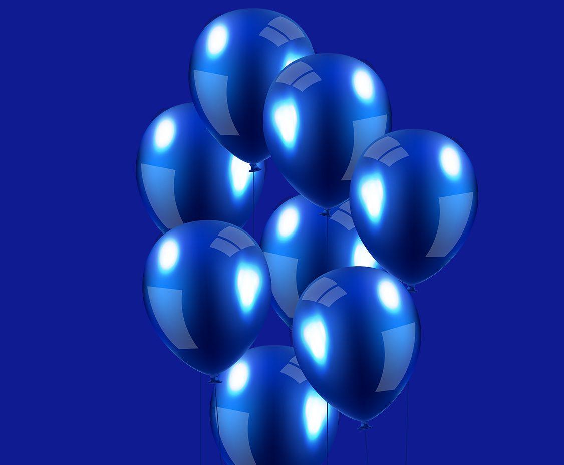 dark blue balloon background